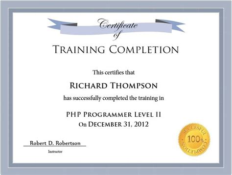11 Free Sle Training Certificate Templates Printable Sles Trainer Certificate Template