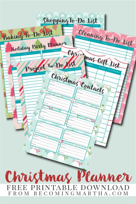 free holiday planner printable christmas planner free printables the scrap shoppe