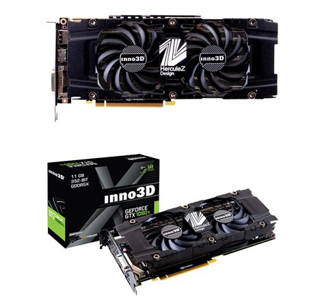 Vga Card Inno3d Gtx 1080 Ti X2 11gb Ddr5 inno3d geforce gtx 1080 ti x2 11gb n108t 1sdn q6mn pc