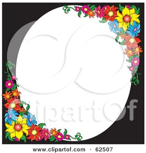 White Left Flower royalty free rf clipart illustration of a pink