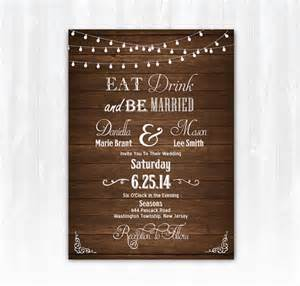 eat drink and be married wedding invitations wood eat drink and be married wedding invitation diy printable