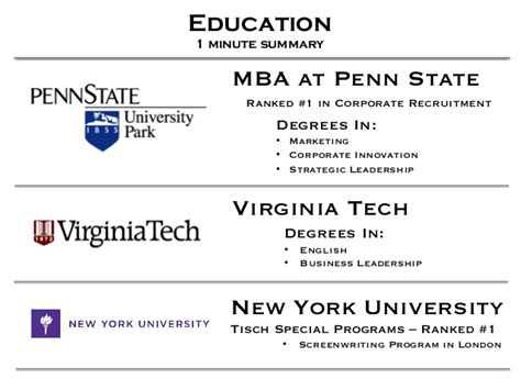 Professional Mba Virginia Tech by My Linkedin Presentation Version 04 04 13