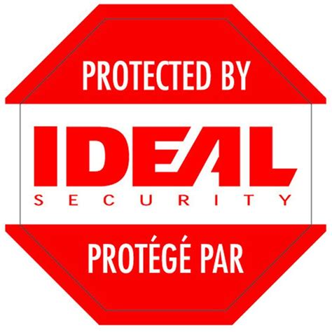 ideal security security warning stickers sk612 the home
