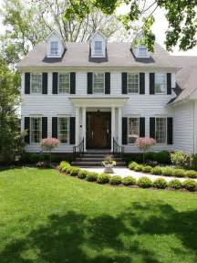 colonial home landscape home design ideas pictures stylish colonial home with dormer windows kerala home