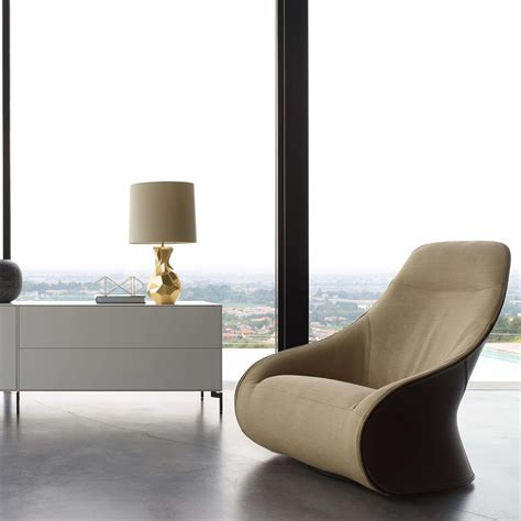Brown And White Cowhide Fabric Derby Armchair Zanotta Ambientedirect Com