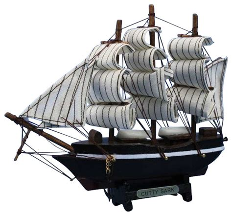 Cutty Sark Clipper Handmade Wooden - wooden cutty sark model clipper ship 7 quot small