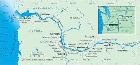 columbia river fishing map columbia river cruising guide boatus magazine