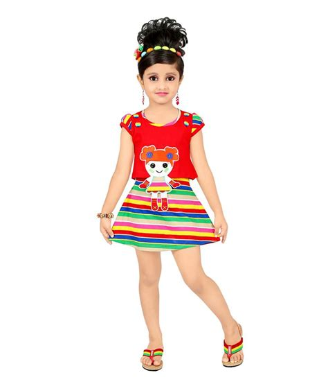 half froks pic justkids red cotton half frock buy justkids red cotton