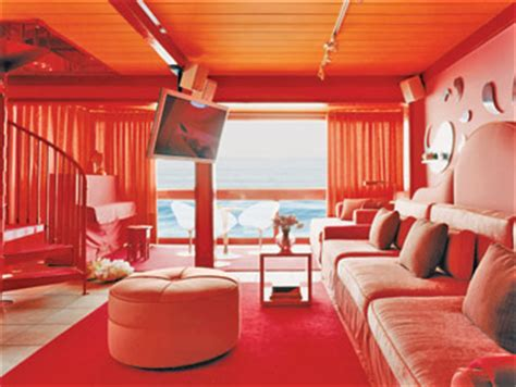 red and orange living room o at home spring 2006 tours