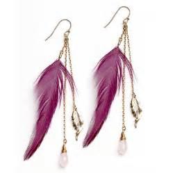 mr t feather earrings wedding fashion earrings feather earrings