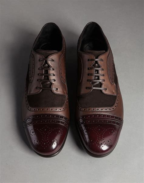 dolce and gabbana shoes mens lyst dolce gabbana vegetable tanned calfskin tailored