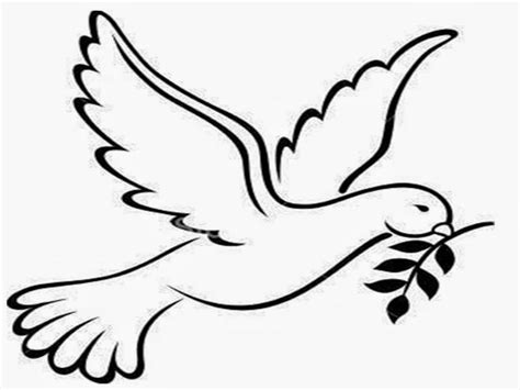 dove of peace template peace dove template coloring home