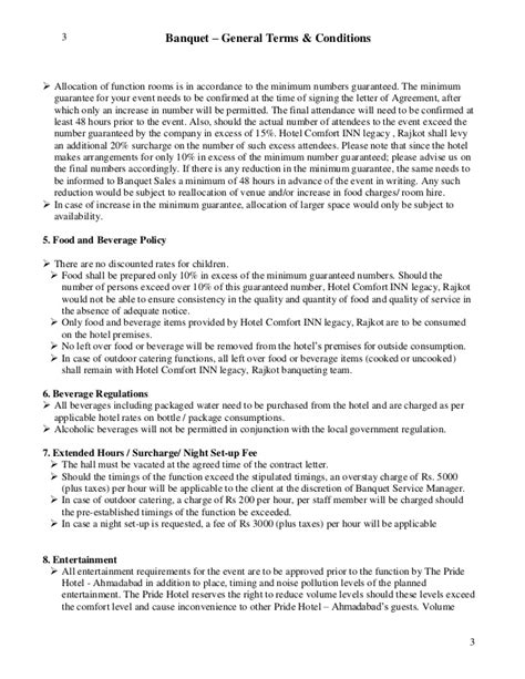 event terms and conditions template letter of agreement bqt