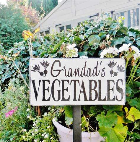 garden signs for vegetables personalised vegetable garden sign by potting shed designs