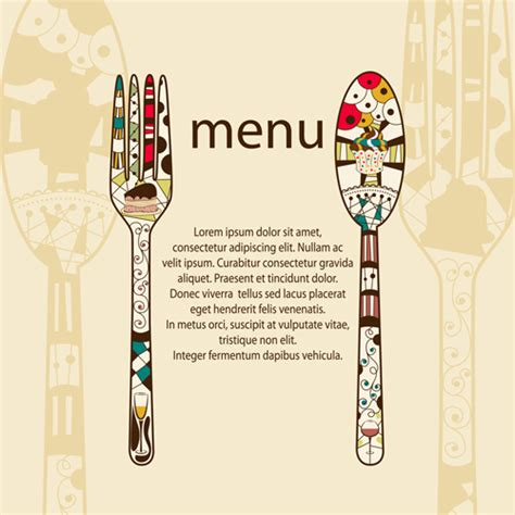 free menu design templates restaurant menus design cover template vector 05 vector