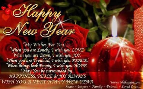 thought newyear related greeting card wish you your loved ones a happy new year daily inspirations for healthy living