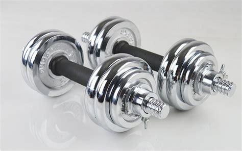 Dumbell Chrome Set Yamaco 15 Kg Silver Anti Karat fitnessing weight 15kg spinlock chrome adjustable dumbbell with soft grip handle set 11street