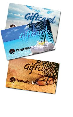 Tanning Gift Cards - gift cards from hawaiian tan and massage