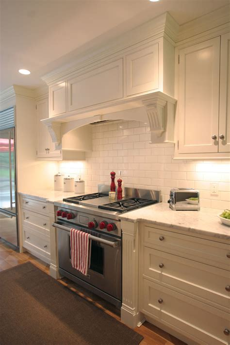 range with built in fan range hood ideas kitchen traditional with bookcase