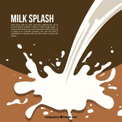 milk design vector brown background of milk splashes vector free download