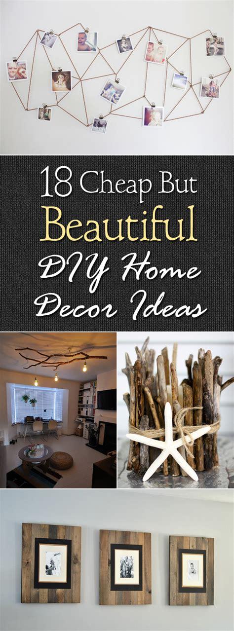 18 cheap but beautiful diy home decor ideas