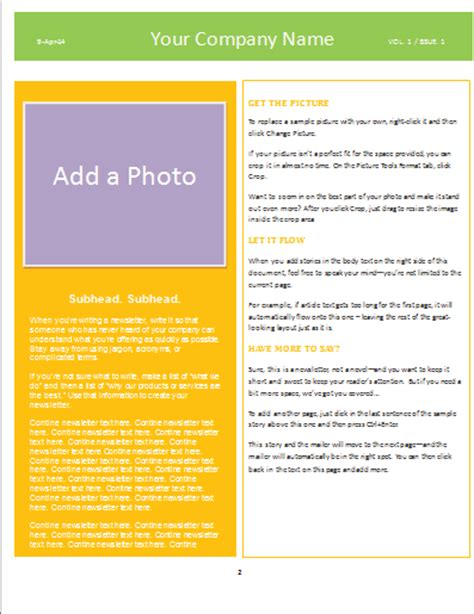newsletter template microsoft word 2007 singpaload