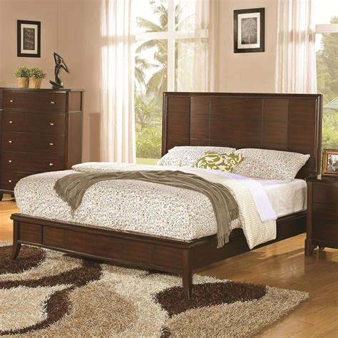 low headboard king beds coaster home 202451kw addley california king low profile