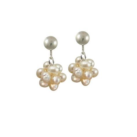 pearl drop clip on earrings from eternal collection