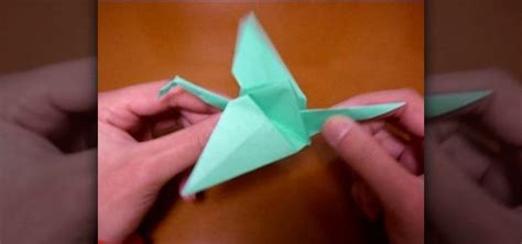 Origami Flapping Swan - how to origami a flapping bird with wings 171 origami