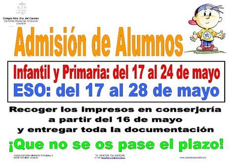 moniciones del domingo 3 de mayo v semana ciclo b 2015 admisi 211 n de alumnos colegio ntra sra del carmen
