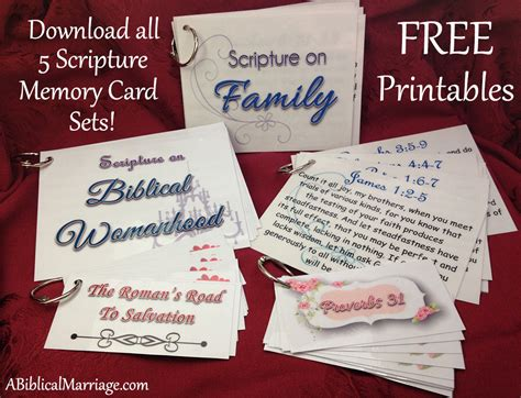 Scripture Memory Cards Template by A Prepared Scripture Memory Cards Free Printables