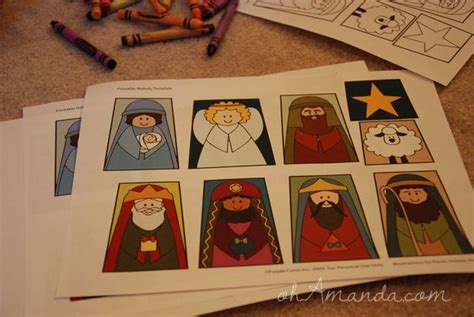 world vision printable gift cards printable nativity finger puppets oh amanda hart of the