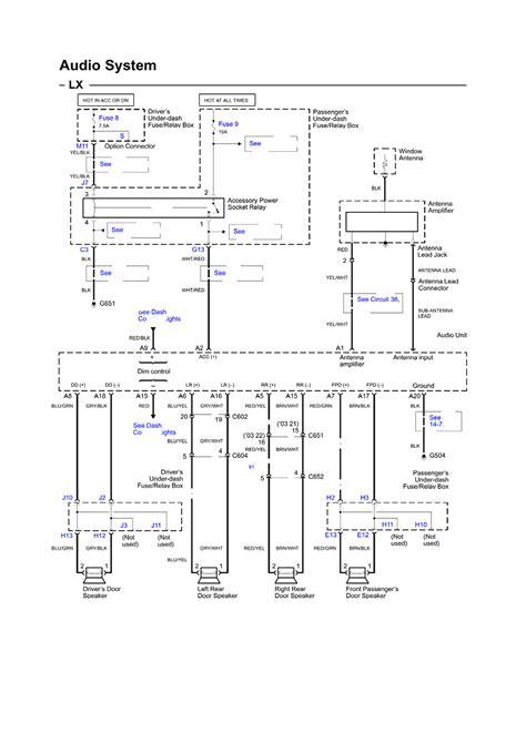 2007 honda pilot radio wiring diagram 2004 honda pilot