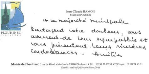 Presentation Lettre De Condoleance Presentation De Condol 233 Ances Mod 232 Le De Lettre