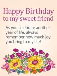 to my sweet friend happy birthday card birthday greeting cards by davia