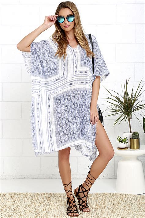 Wst 19294 Blue Pink Bohemian Dress boho chic boho clothing bohemian style clothing
