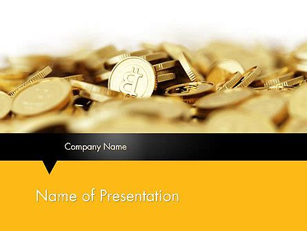 Bitcoins Powerpoint Template Backgrounds 11914 Poweredtemplate Com Bitcoin Powerpoint Template