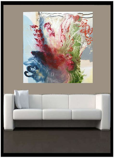 sofa paintings contemporary art 2h above sofa by artist todd krasovetz