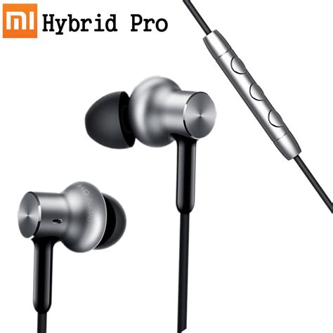 Hybrid Headphone In Ear Original xiaomi headset mi in ear headphones pro hd hybrid original original solution