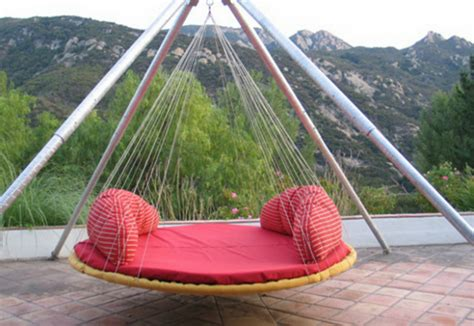 outdoor floating bed diy troline swing bed for ultimate outdoor lounging