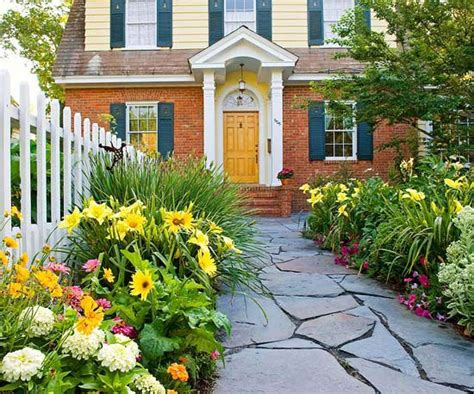 Front Door Garden Exterior Doors And Landscaping