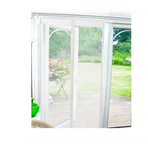 Patio Door Screens Magnetic White Magnetic Insect Door Screen Curtain Wasp Patio Draught Brand New Gift Ebay
