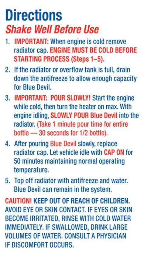 head gasket sealant blue devil permanent sealer  oz ebay