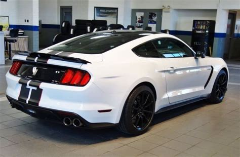 white mustang black roof limited production ford mustang shelby gt350 with black