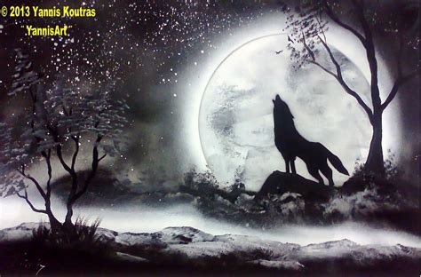 spray paint wolf spray paint wolf black and white painting by yannis