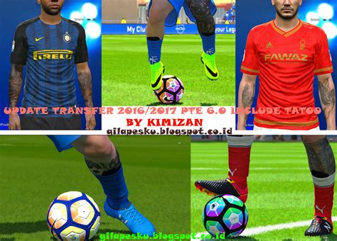 tattoo pack pes 2017 pte patch 6 0 update transfer season 2016 2017 edit bin with tattoo