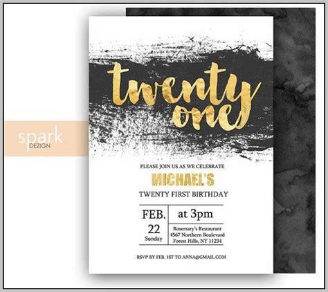 21st Birthday Invitations Templates Guys Template Resume Exles Plk3xp5mwx 21st Invitations Templates