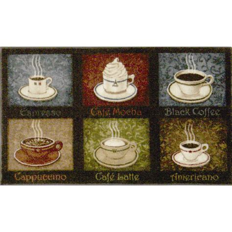 coffee kitchen rug shop style selections indoor throw rug common 2 x 4 actual 2 5 ft w x 4 166 ft l at lowes