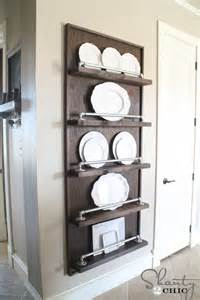 plate shelves for the wall 25 wonderful things you can make with pipe