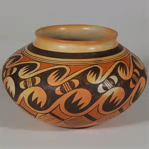 Navajo Vases Hopi Polychrome Jar With Migration Pattern Southwest